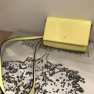 New Kate Spade Yellow Crossbody Purse